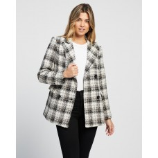 Atmos&Here Cherry Wool Blend Check Coat Check AT049AA00DYHZFL