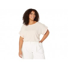 Calvin Klein Plus Size Short Sleeve Top with Detail Sleeve Blush 9313067KBE
