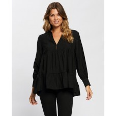 Atmos&Here Catalina Swing Blouse Black AT049AA73ZYKXEE